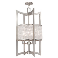 Livex 50569-91 Grammercy 5 Light 17 inch Brushed Nickel Foyer Lantern Ceiling Light