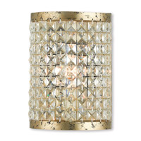 Livex 50571-28 Grammercy 1 Light 6 inch Hand Applied Winter Gold ADA Wall Sconce Wall Light