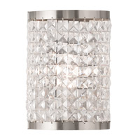 Livex Grammercy 1 Light Wall Sconce in Brushed Nickel 50571-91