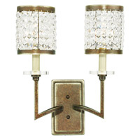 Livex Grammercy 2 Light Wall Sconce in Hand Painted Palacial Bronze 50572-64