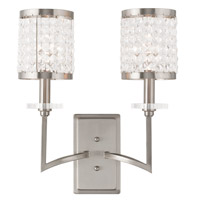 Livex Grammercy 2 Light Wall Sconce in Brushed Nickel 50572-91