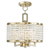 Livex 50574-28 Grammercy 4 Light 14 inch Hand Applied Winter Gold Convertible Mini Chandelier/Semi Flush Mount Ceiling Light