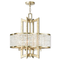 Livex 50575-28 Grammercy 4 Light 22 inch Hand Applied Winter Gold Chandelier Ceiling Light