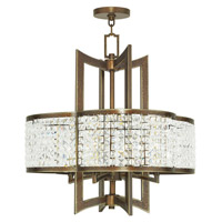 Livex Grammercy 4 Light Chandelier in Hand Painted Palacial Bronze 50575-64