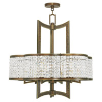Livex Grammercy 6 Light Chandelier in Hand Painted Palacial Bronze 50576-64