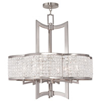 Grammercy 6 Light 26 inch Brushed Nickel Chandelier Ceiling Light