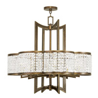 Livex 50578-64 Grammercy 8 Light 30 inch Hand Painted Palacial Bronze Chandelier Ceiling Light