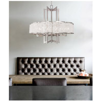 Livex 50578-91 Grammercy 8 Light 30 inch Brushed Nickel Chandelier Ceiling Light