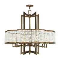 Livex Grammercy 10 Light Chandelier in Hand Painted Palacial Bronze 50579-64