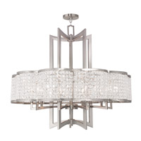 Livex 50579-91 Grammercy 10 Light 34 inch Brushed Nickel Chandelier Ceiling Light