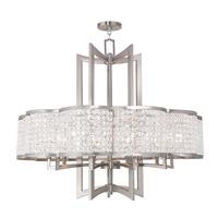Livex 50579-91 Grammercy 10 Light 34 inch Brushed Nickel Chandelier Ceiling Light