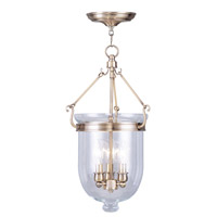 Livex Lighting Jefferson 3 Light Pendant in Antique Brass 5063-01