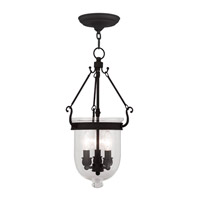Jefferson 3 Light 10 inch Black Pendant Ceiling Light in Clear