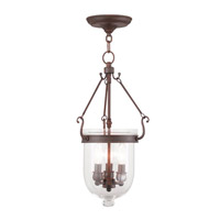 Jefferson 3 Light 10 inch Imperial Bronze Pendant Ceiling Light in Clear