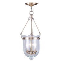 Livex Lighting Jefferson 3 Light Pendant in Antique Brass 5064-01