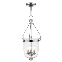 Jefferson 3 Light 12 inch Polished Nickel Pendant Ceiling Light
