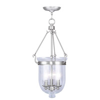 Livex Lighting Jefferson 3 Light Pendant in Brushed Nickel 5064-91