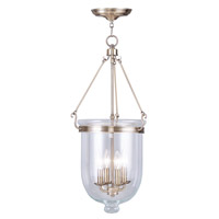 Livex Lighting Jefferson 4 Light Pendant in Antique Brass 5065-01