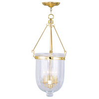 Livex Lighting Jefferson 4 Light Pendant in Polished Brass 5065-02
