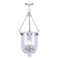 Livex Lighting Jefferson 4 Light Pendant in Brushed Nickel 5065-91