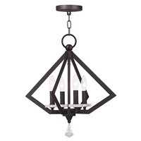 Livex Diamond 4 Light Chandelier in Bronze 50664-07
