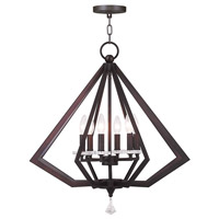 Livex Diamond 6 Light Chandelier in Bronze 50666-07