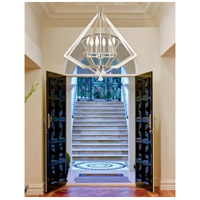 Livex 50666-35 Diamond 6 Light 25 inch Polished Nickel Chandelier Ceiling Light