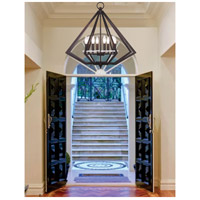 Livex Diamond 8 Light Chandelier in Bronze 50668-07