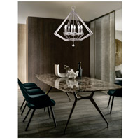 Livex Diamond 8 Light Chandelier in Brushed Nickel 50668-91