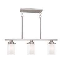Livex Manhattan 3 Light Chandelier in Brushed Nickel 50674-91