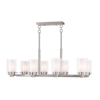Manhattan 8 Light 12 inch Brushed Nickel Chandelier Ceiling Light