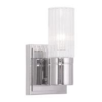 Livex Midtown 1 Light Wall Sconce in Chrome 50681-05