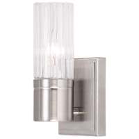 Livex Midtown 1 Light Wall Sconce in Brushed Nickel 50681-91