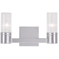 Midtown 2 Light 9 inch Polished Chrome Vanity Light Wall Light