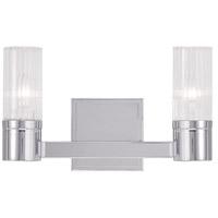 Livex 50682-05 Midtown 2 Light 9 inch Polished Chrome Vanity Light Wall Light