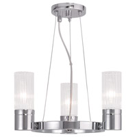 Livex 50693-05 Midtown 3 Light 15 inch Polished Chrome Mini Chandelier Ceiling Light