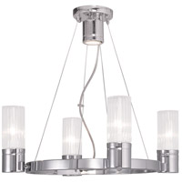 Livex Midtown 4 Light Chandelier in Chrome 50694-05