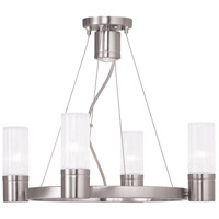 Livex 50694-91 Midtown 4 Light 20 inch Brushed Nickel Chandelier Ceiling Light