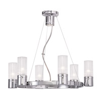 Livex 50696-05 Midtown 6 Light 23 inch Polished Chrome Chandelier Ceiling Light