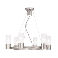 Midtown 6 Light 23 inch Brushed Nickel Chandelier Ceiling Light