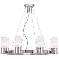 Livex 50698-05 Midtown 8 Light 26 inch Polished Chrome Chandelier Ceiling Light