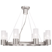 Livex Midtown 8 Light Chandelier in Brushed Nickel 50698-91