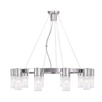Livex 50699-05 Midtown 10 Light 30 inch Polished Chrome Chandelier Ceiling Light