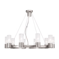 Midtown 10 Light 30 inch Brushed Nickel Chandelier Ceiling Light