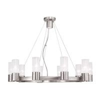 Livex 50699-91 Midtown 10 Light 30 inch Brushed Nickel Chandelier Ceiling Light