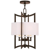 Livex 50703-67 Woodland Park 4 Light 12 inch Olde Bronze Foyer Chandelier Ceiling Light