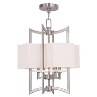 Woodland Park 4 Light 12 inch Brushed Nickel Foyer Chandelier Ceiling Light