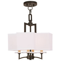 Livex 50704-67 Woodland Park 4 Light 15 inch Olde Bronze Convertible Mini Chandelier Ceiling Light