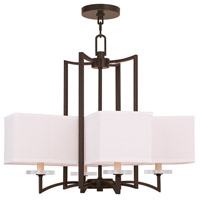 Livex 50705-67 Woodland Park 4 Light 25 inch Olde Bronze Chandelier Ceiling Light