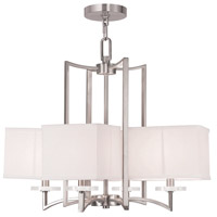 Livex 50705-91 Woodland Park 4 Light 25 inch Brushed Nickel Chandelier Ceiling Light